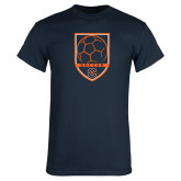 Navy T Shirt-Soccer Shield w/ Logo