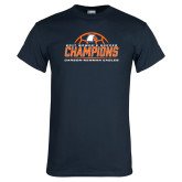 Navy T Shirt-2017 Womens Soccer Champions w/ Ball