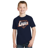 Youth Navy T Shirt-Eagles Baseball Diamond w/ Script