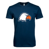 Next Level SoftStyle Navy T Shirt-Eagle Head