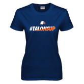 Ladies Navy T Shirt-#TalonsUp