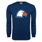 Navy Long Sleeve T Shirt-Eagle Head