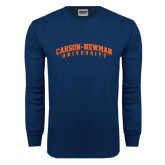 Navy Long Sleeve T Shirt-Arched Carson-Newman University