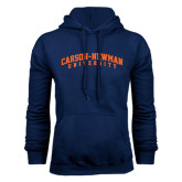 Navy Fleece Hoodie-Arched Carson-Newman University