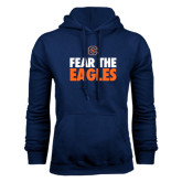 Navy Fleece Hoodie-Fear The Eagles