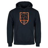 Navy Fleece Hoodie-Soccer Shield w/ Logo