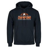 Navy Fleece Hoodie-2017 Womens Soccer Champions w/ Ball