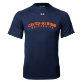 Under Armour Navy Tech Tee-Arched Carson-Newman University