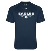 Under Armour Navy Tech Tee-Carson-Newman Eagles Football Stacked