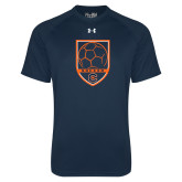 Under Armour Navy Tech Tee-Soccer Shield w/ Logo