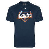 Under Armour Navy Tech Tee-Eagles Baseball Diamond w/ Script