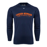 Under Armour Navy Long Sleeve Tech Tee-Arched Carson-Newman University