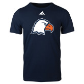 Adidas Navy Logo T Shirt-Eagle Head