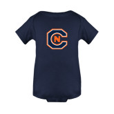 Navy Infant Onesie-Official Logo
