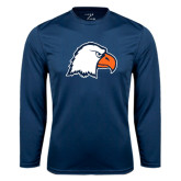 Syntrel Performance Navy Longsleeve Shirt-Eagle Head