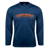 Syntrel Performance Navy Longsleeve Shirt-Arched Carson-Newman University