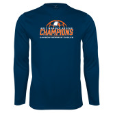 Syntrel Performance Navy Longsleeve Shirt-2017 Womens Soccer Champions w/ Ball