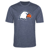 Performance Navy Heather Contender Tee-Eagle Head
