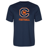Syntrel Performance Navy Tee-Football