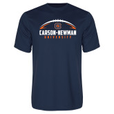 Syntrel Performance Navy Tee-Carson-Newman Football Stacked