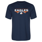 Syntrel Performance Navy Tee-Carson-Newman Eagles Football Stacked