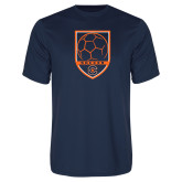 Syntrel Performance Navy Tee-Soccer Shield w/ Logo