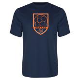 Syntrel Performance Navy Tee-Soccer Shield w/ Logo