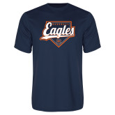 Syntrel Performance Navy Tee-Eagles Baseball Diamond w/ Script