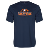 Syntrel Performance Navy Tee-2017 Womens Soccer Champions w/ Ball