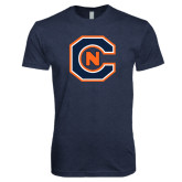 Next Level Vintage Navy Tri Blend Crew-Official Logo