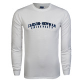 White Long Sleeve T Shirt-Arched Carson-Newman University