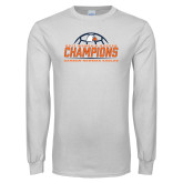 White Long Sleeve T Shirt-2017 Womens Soccer Champions w/ Ball