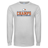 White Long Sleeve T Shirt-2017 NCAA DII Womens Soccer - CHAMPS
