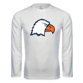 Syntrel Performance White Longsleeve Shirt-Eagle Head