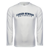 Syntrel Performance White Longsleeve Shirt-Arched Carson-Newman University