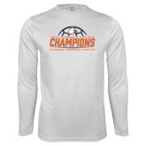 Syntrel Performance White Longsleeve Shirt-2017 Womens Soccer Champions w/ Ball