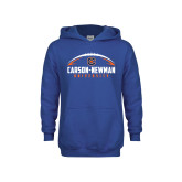 Youth Royal Fleece Hoodie-Carson-Newman Football Stacked