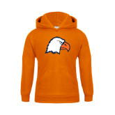 Youth Orange Fleece Hoodie-Eagle Head