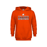 Youth Orange Fleece Hoodie-2017 NCAA DII Womens Soccer - CHAMPS