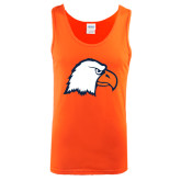 Orange Tank Top-Eagle Head