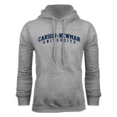 Grey Fleece Hoodie-Arched Carson-Newman University