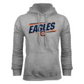 Grey Fleece Hoodie-Eagles Slanted w/ Logo