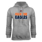 Grey Fleece Hoodie-Fear The Eagles