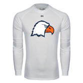 Under Armour White Long Sleeve Tech Tee-Eagle Head