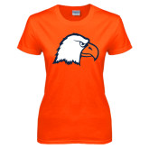 Ladies Orange T Shirt-Eagle Head