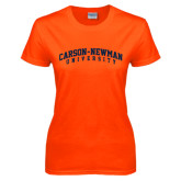 Ladies Orange T Shirt-Arched Carson-Newman University