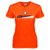 Ladies Orange T Shirt-#TalonsUp