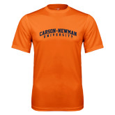 Performance Orange Tee-Arched Carson-Newman University