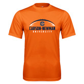Performance Orange Tee-Carson-Newman Football Stacked