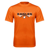 Performance Orange Tee-Carson-Newman Eagles Football Stacked